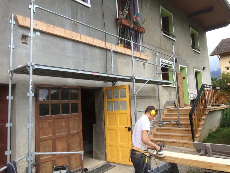 Implantation d'un balcon terrasse à La Motte Servolex 73290