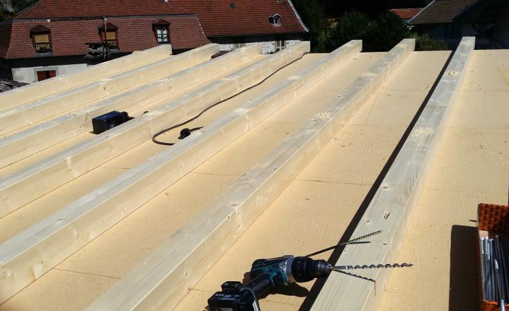Isolation thermique du toit