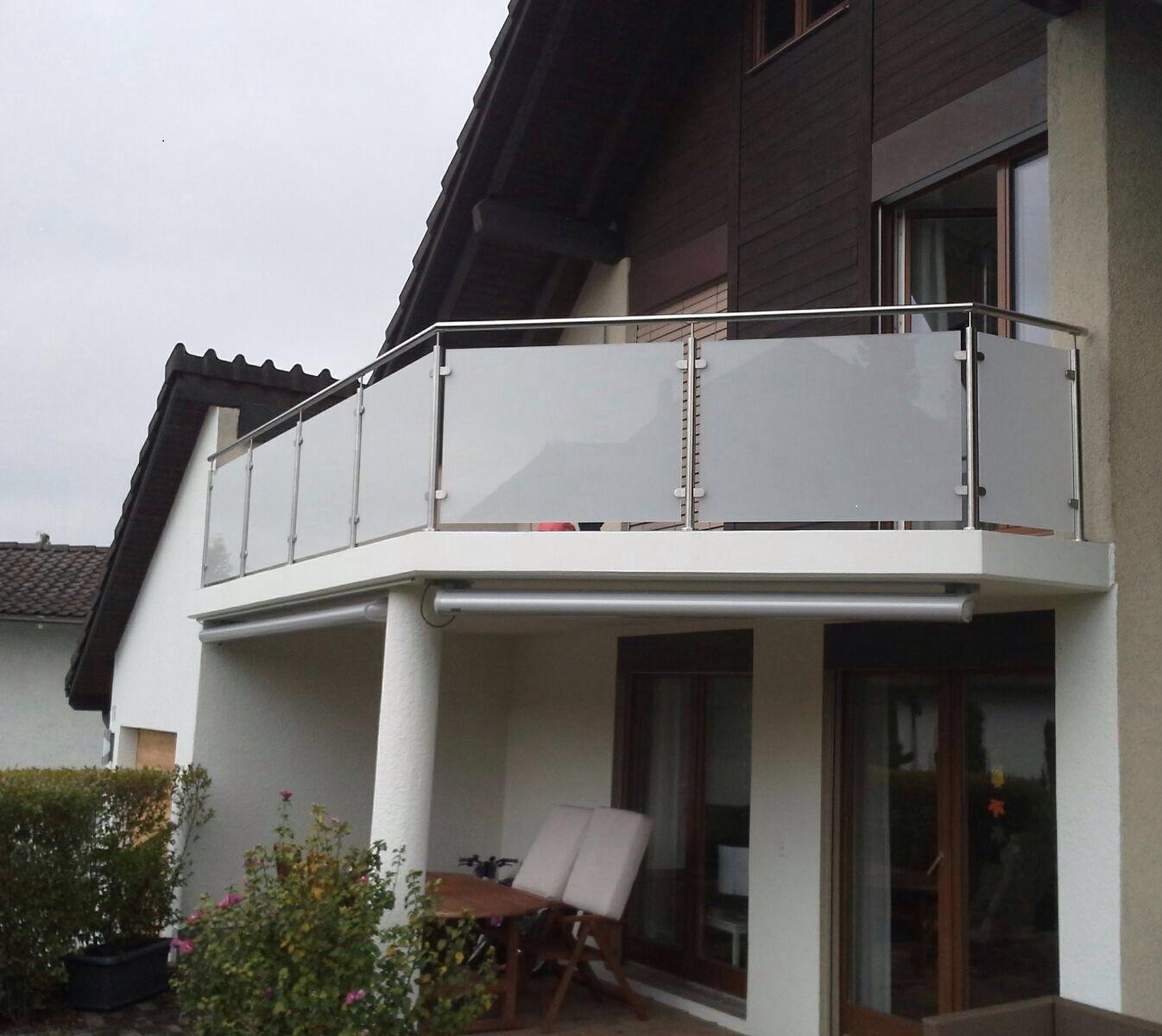 Geländer mit Glas Standard - Mellingen 2015