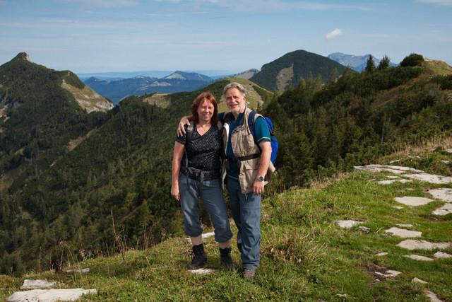 Hilda und Leo - die Emsigsten unter uns - schon am Berg, als wir noch auf der Autobahn fuhren ...