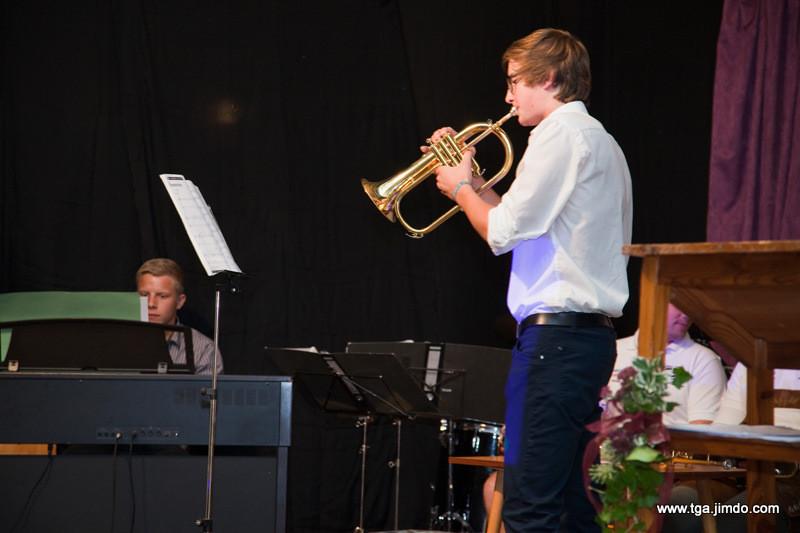 Maximilian Rebhandl (Piano) und Andreas Großbichler (Flügelhorn)