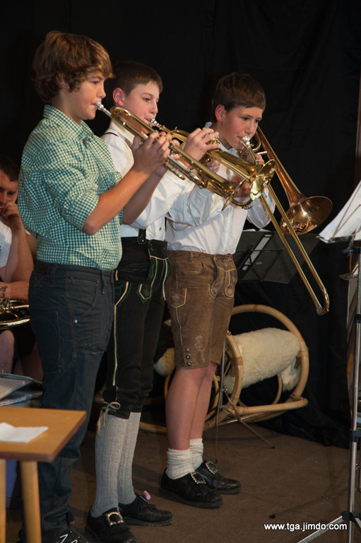Trio: Georg Schaumberger (Trompete), Christoph Großbichler (Flügelhorn) und Georg Hinterplattner (Zugposaune)
