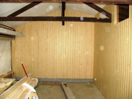 Holzschalung montiert
