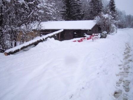 Schnee soweit das Auge reicht!