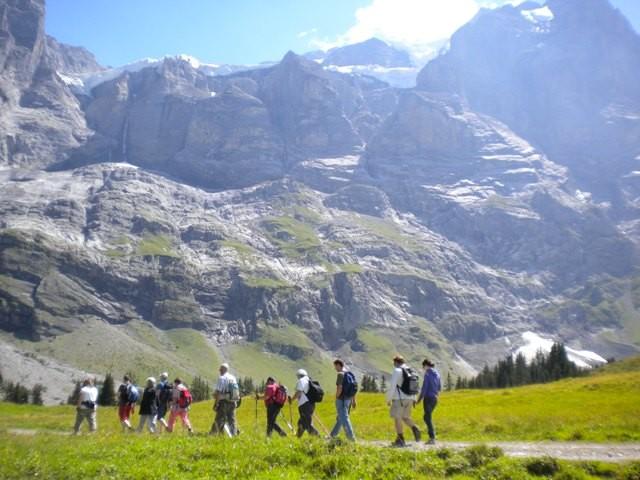 Wandern entlang dem Reichenbach.