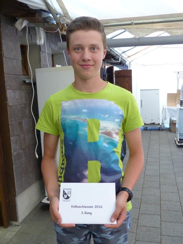 3. Rang Einzel: Gerber Dominic