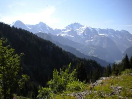 erste Blick uf Eiger, Mönch & Jungfrau
