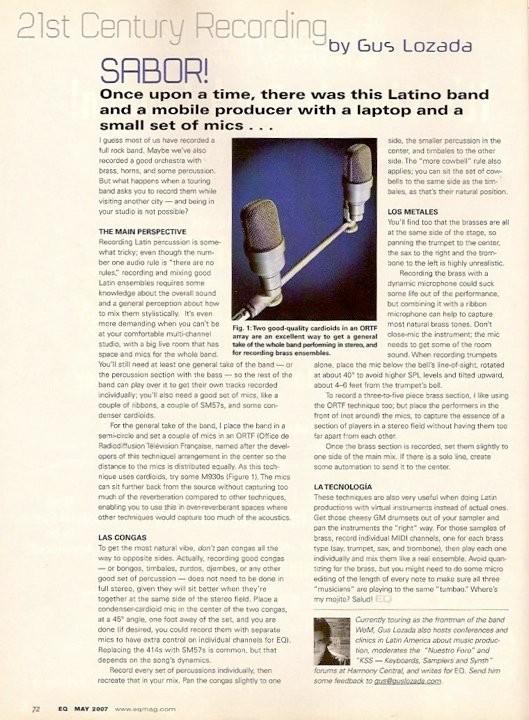 Uno de mis artículos publicados en la revista EQ