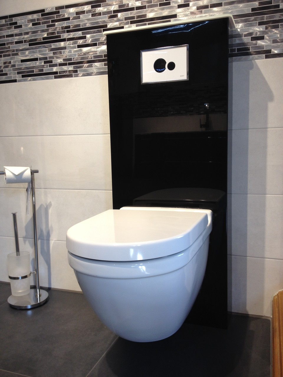 WC Sanit Sanitärmodul inkl. Wand WC Starck 3