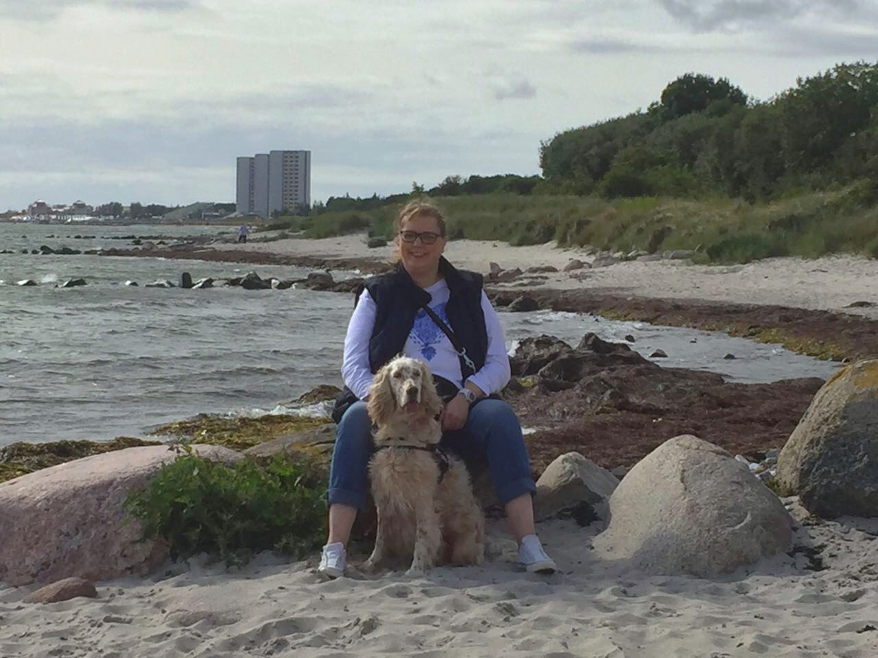 Susanne mit ihrem Floerchen