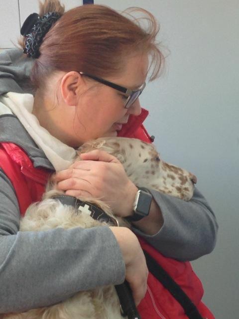 Floerchen mit Susanne beim Tierarzt