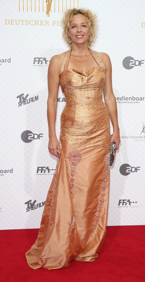 Katja Riemann in einem Kleid von Nanna Kuckuck, celebrities, fashion berlin, fashionweek