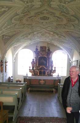 Ein wahrer Schatz ist die kleine Kapelle in Schloß Hart, in der vier Beutetürken getauft wurden.