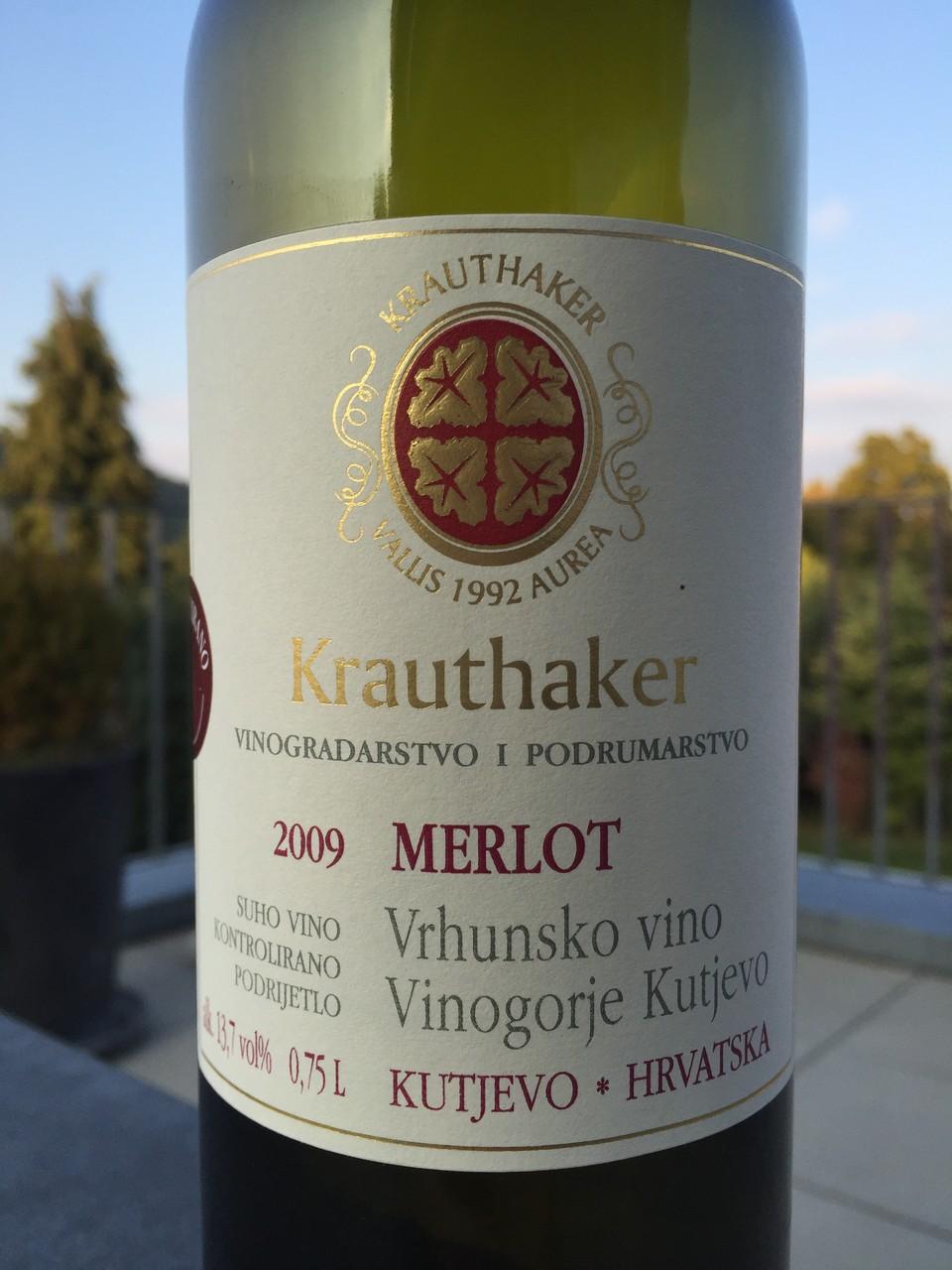 Merlot, Krauthaker, 2009