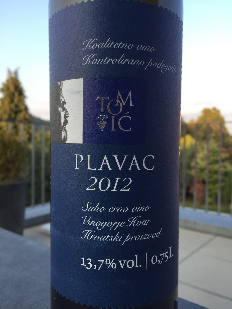 Plavac, Tomic, 2012