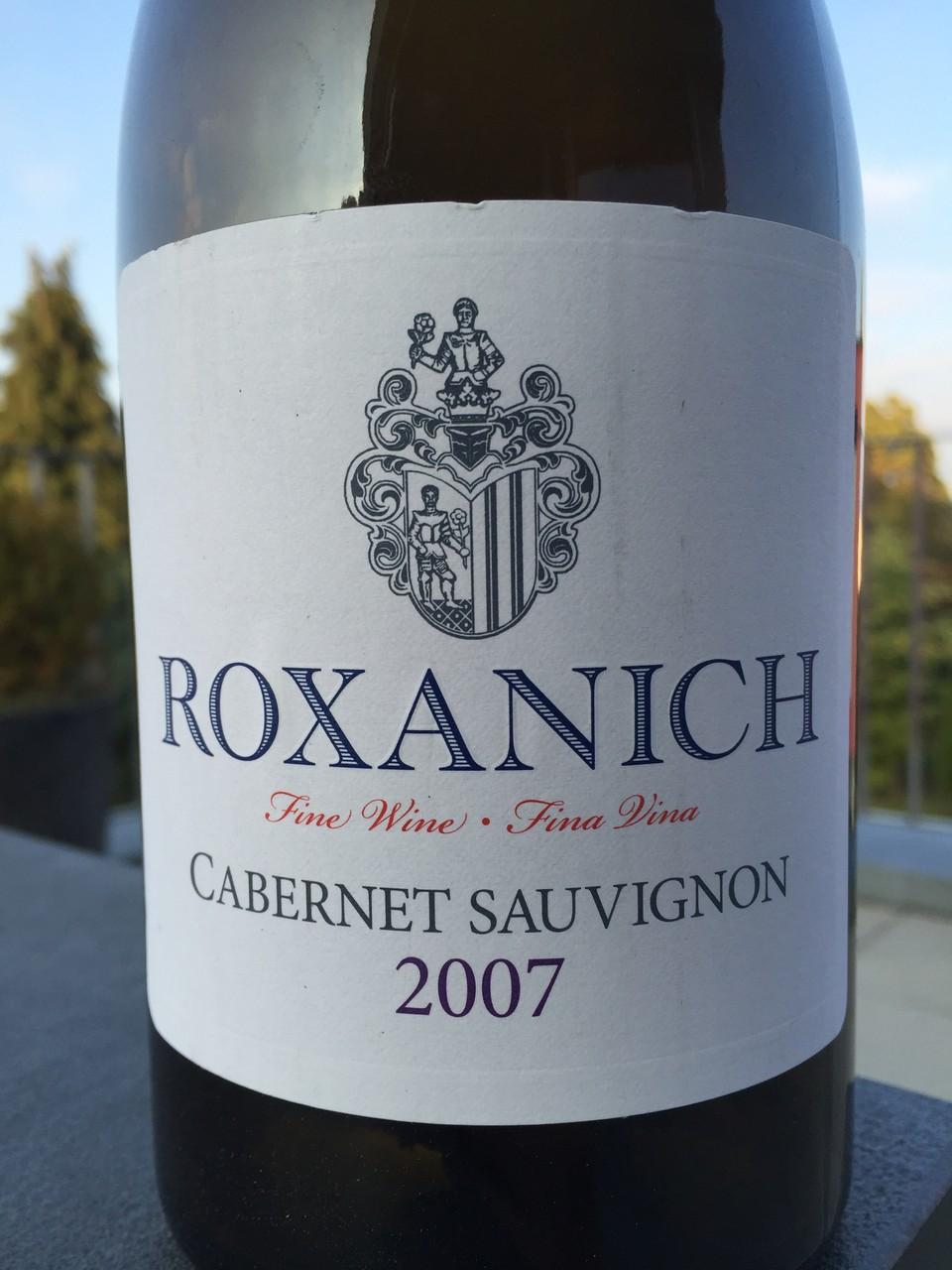 Cabernet Sauvignon, Roxanich, 2007