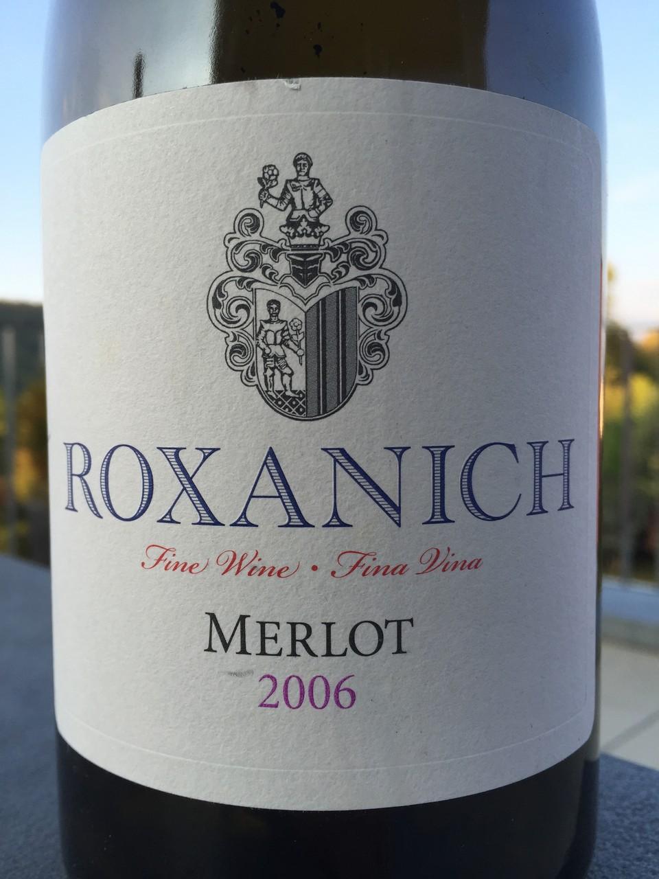 Merlot, Roxanich, 2006