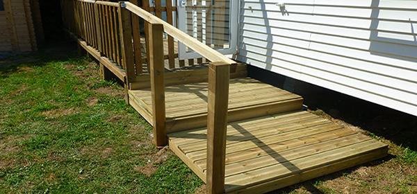 Accès terrasse bois sur-mesure - ID Plein Air