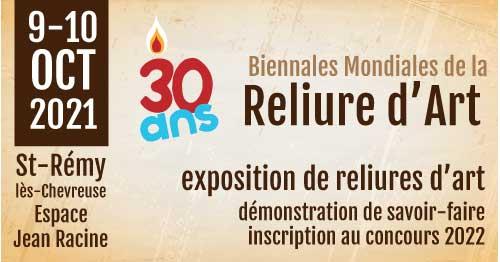 Expo-anniversaire les 30 ans des Biennales Mondiales de la Reliure d'Art