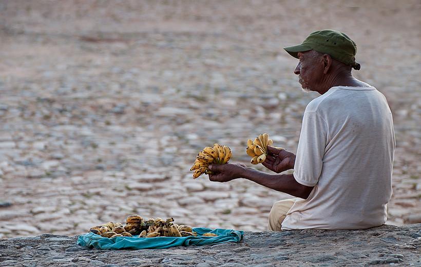 Bananenverkäufer in Trinidad