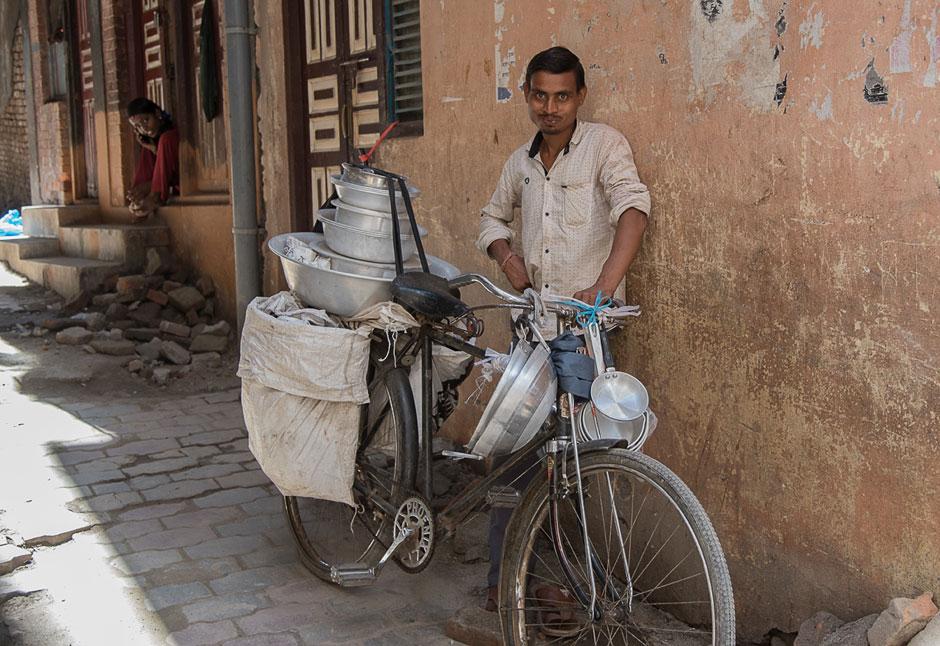 Verkäufer in Kathmandu