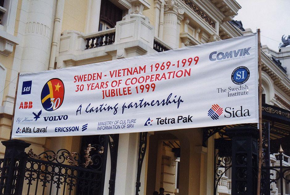 Oper Hanoi, hier wir fûr 750 Gäste eine Cocktailparty