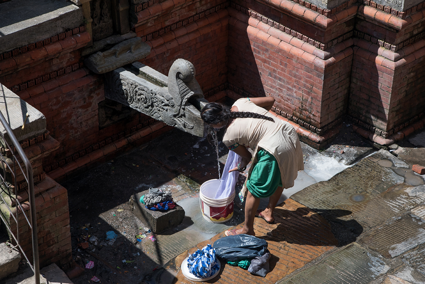 Waschtag, laundry, Kathmandu