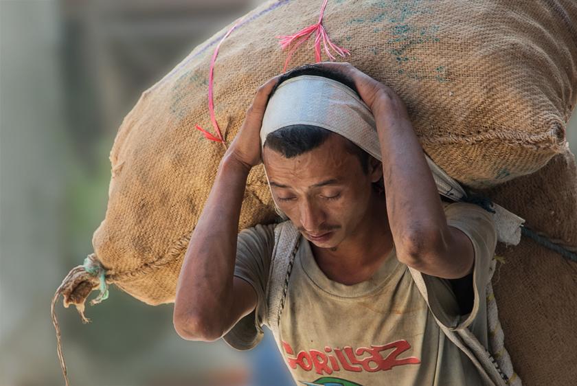 Träger in Kathmandu