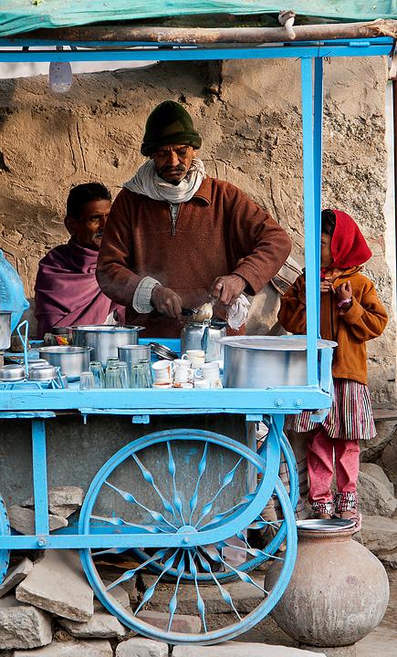 Den besten Tee bekommt man an solchen Ständen