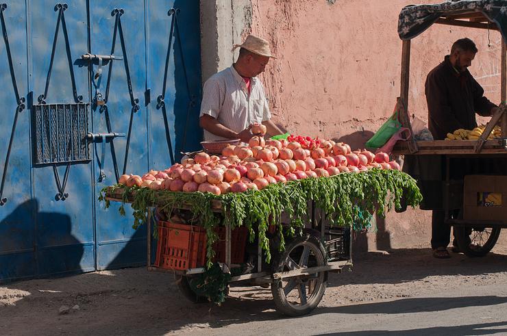 Orangenverkauf,Altstadt, Marrakech