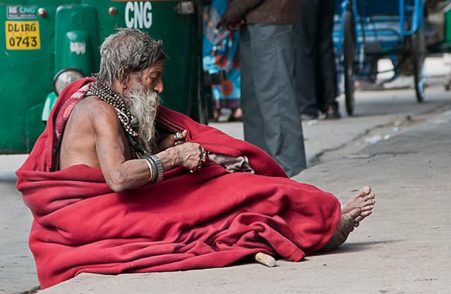 Bettler in Delhi