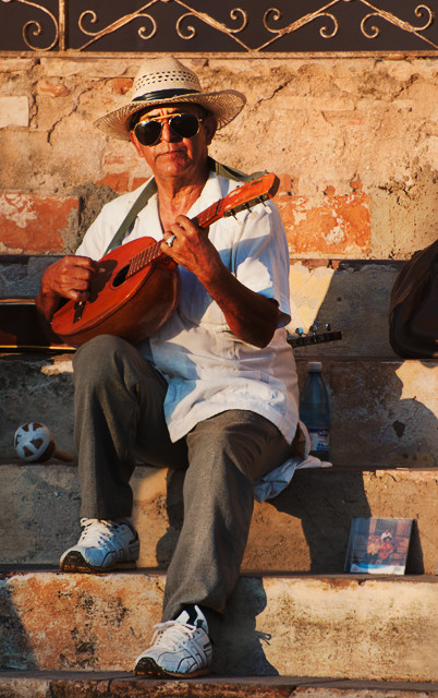 Musikant in Trinidad