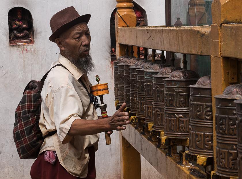 Der Pilger, Bodhnath Stupa, Kathmandu