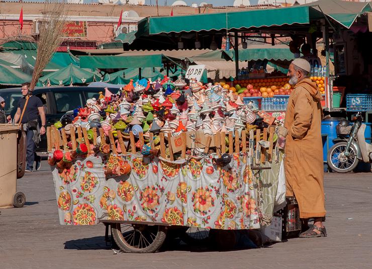 Tagineverkäufer, Platz der Gaukler, Djemaa el Fna