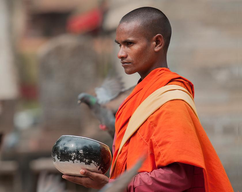 Mönch am Durbar Square, Kathmandu