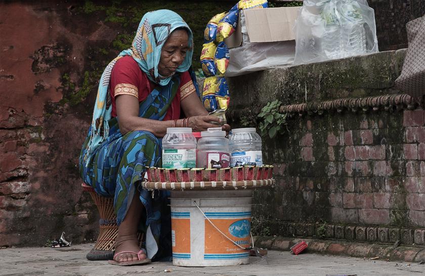 Warten auf Kunden, Kathmandu