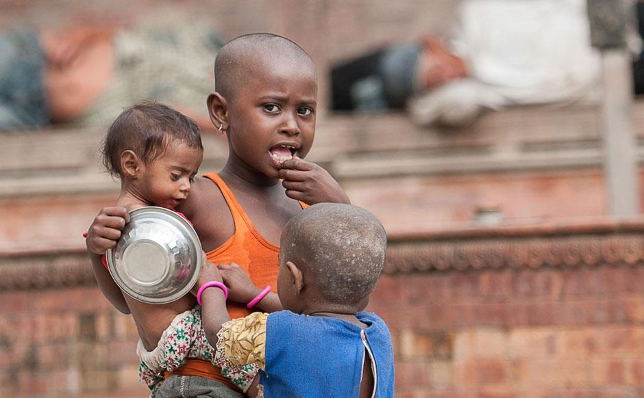 Kinder auf der Strasse, Kathmandu