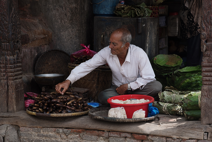 Verkaufsstand am Durbar Square, Kathmandu