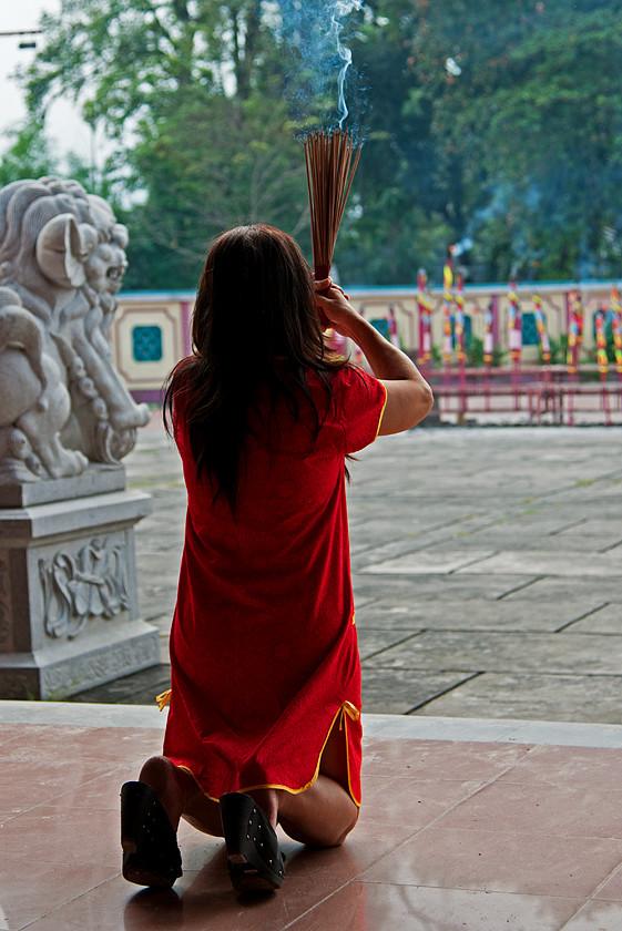 Im chinesischen Tempel  Vihara Gunung Timur