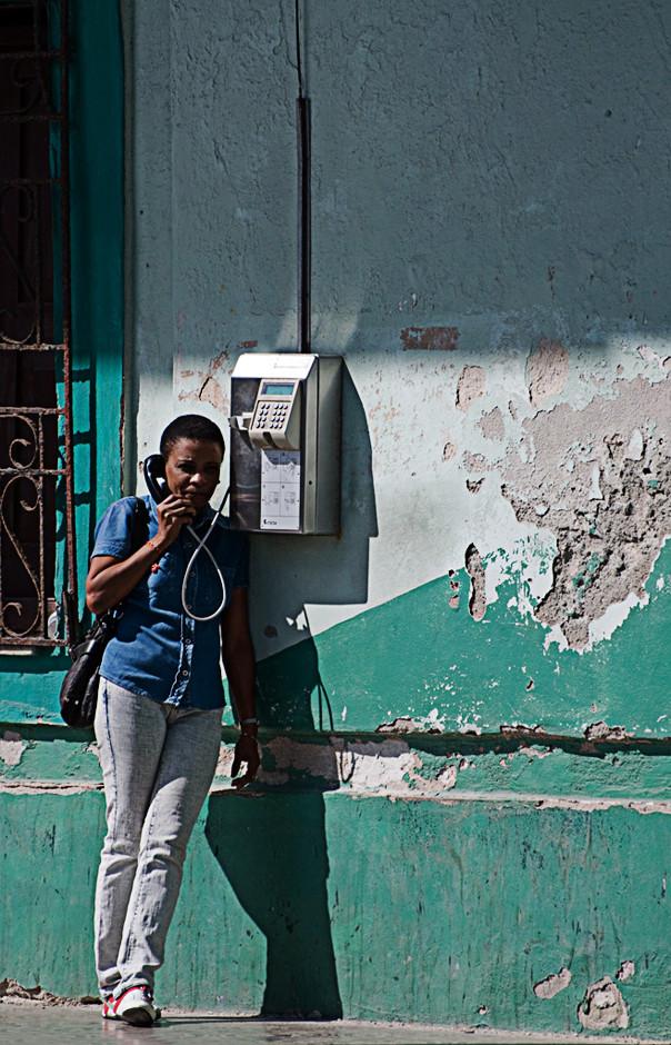 Altes Telefon in Kuba