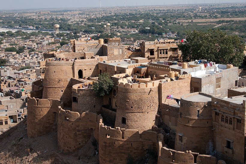 Blick auf Jaisalmer vom Fort
