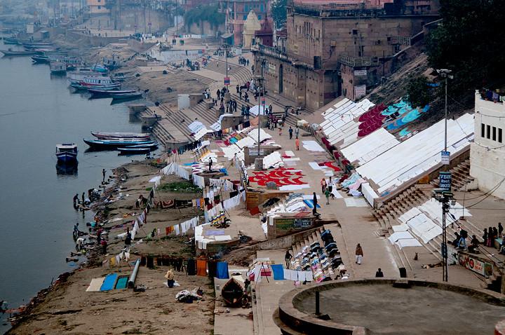 Waschtag am Ganges