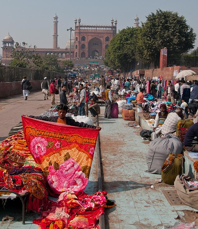 Markt vor der Jama Masjid Moschee