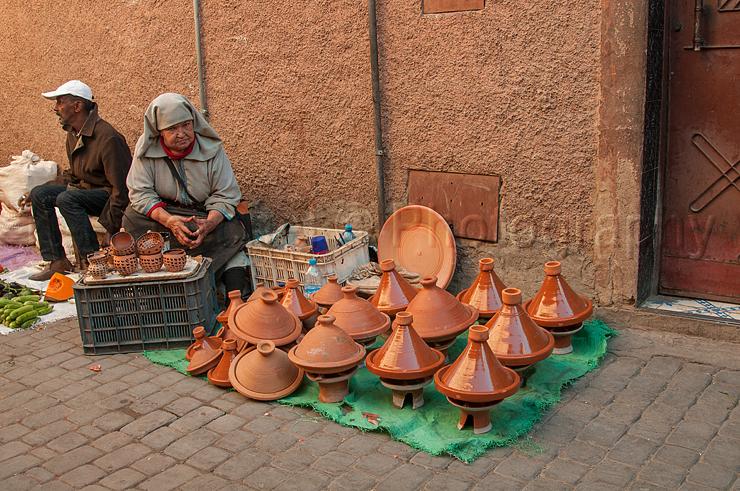 Verkauf von  Tagine, Medina, Marrakesch