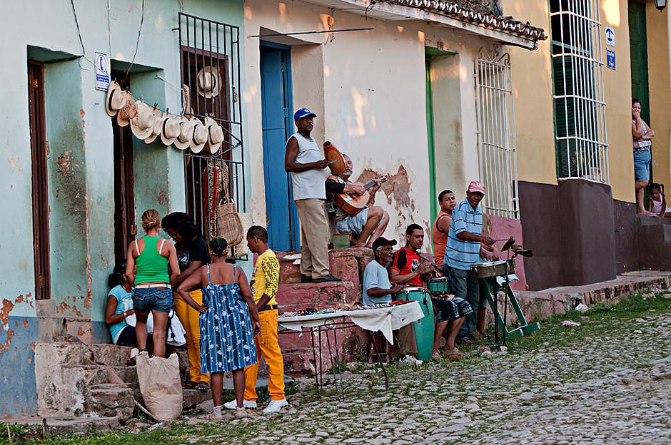Strassenmusikanten in Trinidad