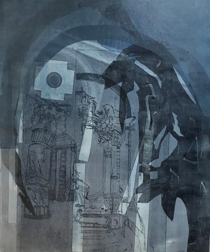 """""""Blaue Vision"""" von Hilda van Overveld-Priew"""