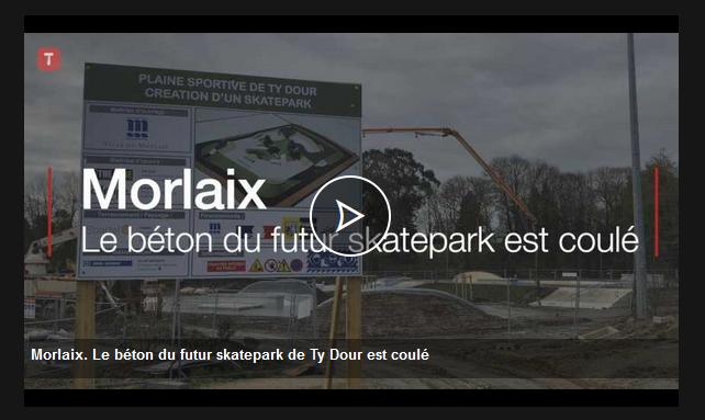 THE EDGE - Skatepark béton Ville de Morlaix - Le Télégramme - Coulage