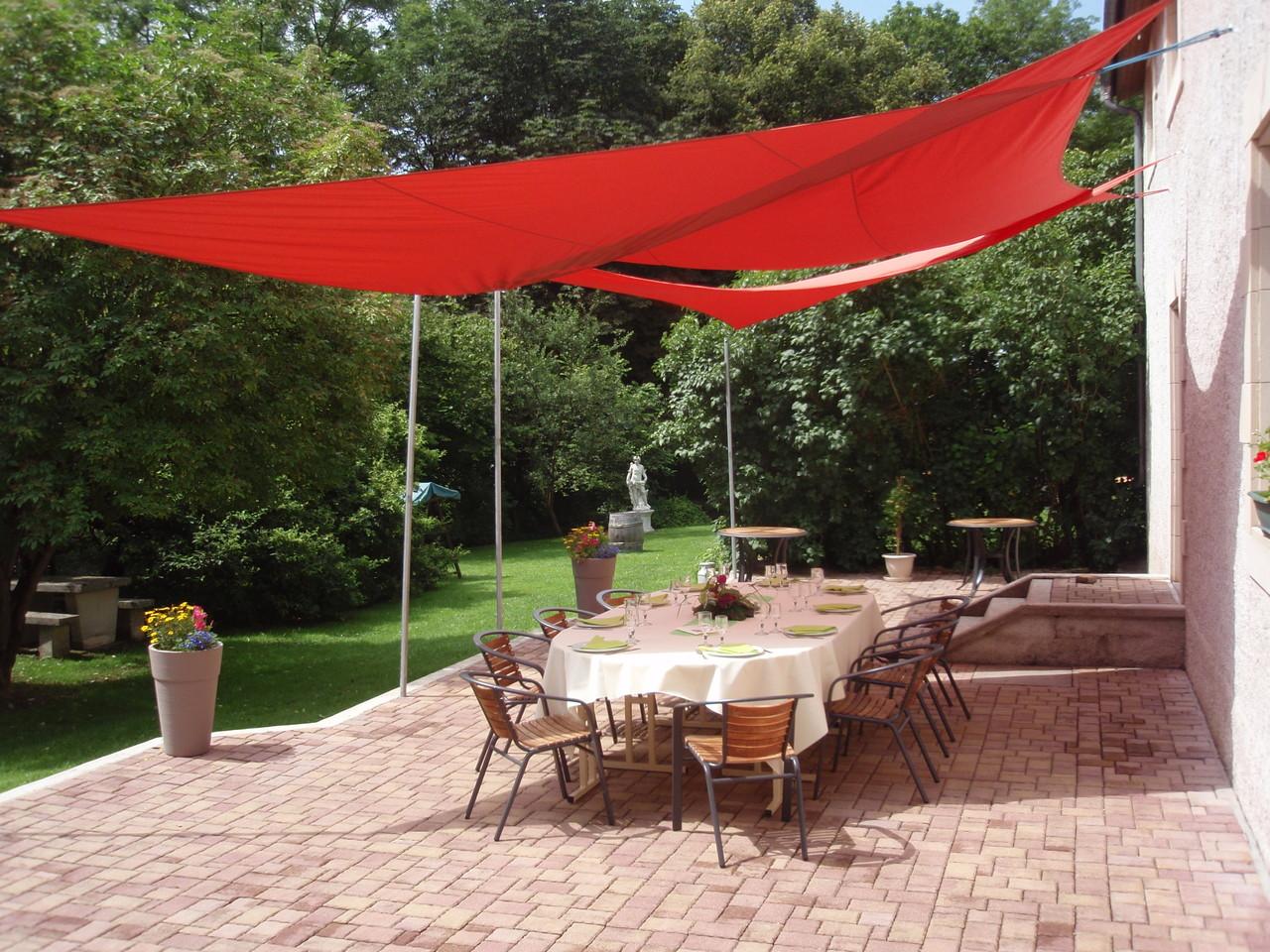 Un aménagement possible de la terrasse extérieur