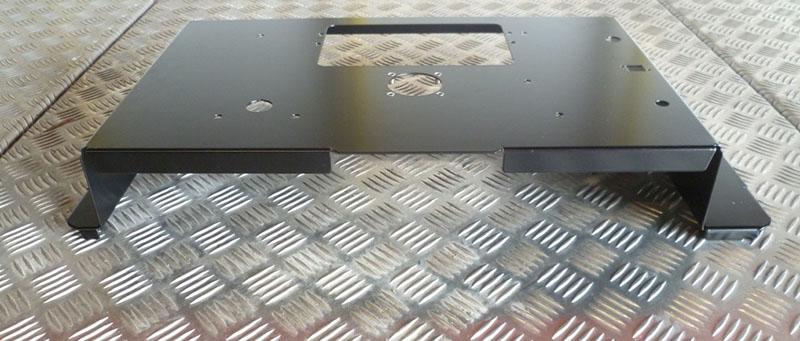 Acier peint avec peinture époxy mat