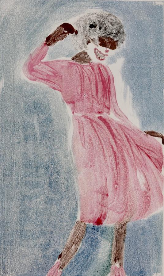 Maskerade - Ausstellung mit Simone Scharte - Monotypie auf Papier